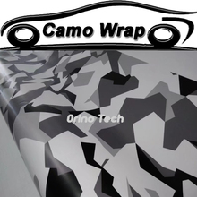 Adhesive Black Grey Camouflage Film Vinyl Wrap Air Bubble Car Styling Vehicle Motorcycle Wraps Decal Matte/Glossy Finished