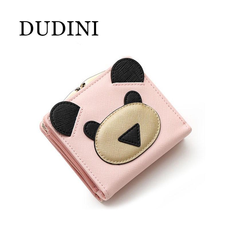 DUDINI Korean Style Womens Wallets Short Section Lovely Cartoon Bear Pattern Womens Wallet Hasp 2 Fold PU Leather Small Wallet<br><br>Aliexpress