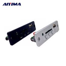 AIYIMA 5V MP3 Decoder Board Built In 3W Amplifier With Remote Control Support SD Card USB Player 5 V 3 W Decoder Board(China)