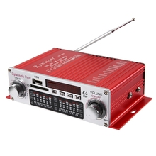 Kentiger HY-602 Mini Portable HiFi Stereo Power Digital Amplifier with FM IR Control FM MP3 USB Playback with Four DSP