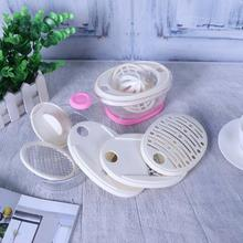 Multifunction Manual Vegetable Chopper Cutter Slicer Device Egg Separation Grinding Tool Storage Container Kitchen Accessories(China)