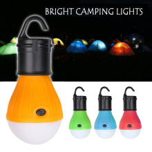New 3 LEDs Outdoor Camping Tent Hanging Adventure Lanters Lamp Portable LED Light Hunting hut Fishing Garden Lamp Bulb