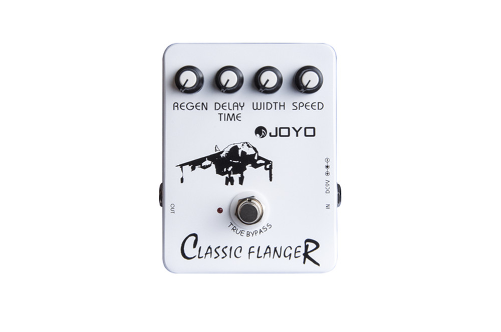 Joyo JF-07 Classic Flanger Electric Guitar effect Pedal Flanger Stompbox Speed Regain Width Delay Time Adjustable True Bypass<br>