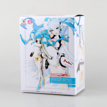 21cm Hatsune Miku Anime Racing suits Collectible Action Figure PVC toys for christmas gift with retail box free shipping