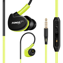 Hot Sale Original Fonge Sport Earphone Sweatproof Stereo Bass Headphones Hands Free Earphone With Mic For Mobile Phone