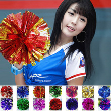 1Pair Cheerleading Pompoms Cheerleader Pom Poms Waver Fancy Dress Costume Game Match Cheer Dance Party School Ceremony 201-329