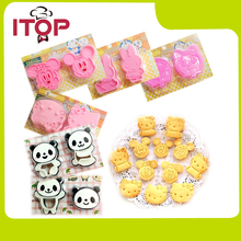 ITOP 5pcs/lot Hello Kitty Cookie Cutters Cookies mold cake mould Cookie Molds Rice ball mold Mickey Panda Rabbit