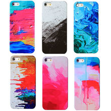 Hard PC Graffiti Painting For iphone 5 5s 5se 6 4.7'' 7 Phone Case Capa 3d Colors Plastic luxury Rainbow Coque White Back Case