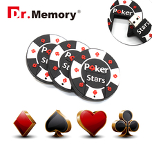 Chips style usb flash drive Creative pen drive 8GB 16GB 32GB USB Memory Stick 2016 beautiful U disk 64gb USB key poker stars