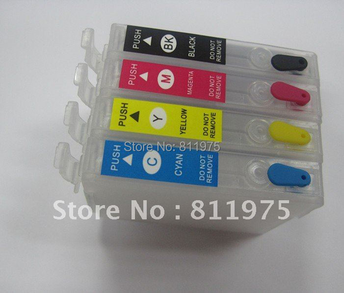 10sets/lot 89 T0891 T0892 T0893 T0894 refillable ink cartridge for epson SX115 printers Auto reset chip<br><br>Aliexpress