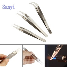 1 pcs Anti-static Ceramic Tweezer Electronic Cigarette Resistance Wire DIY Tool Heat Resistant Interchangeable Head Pointed Tip