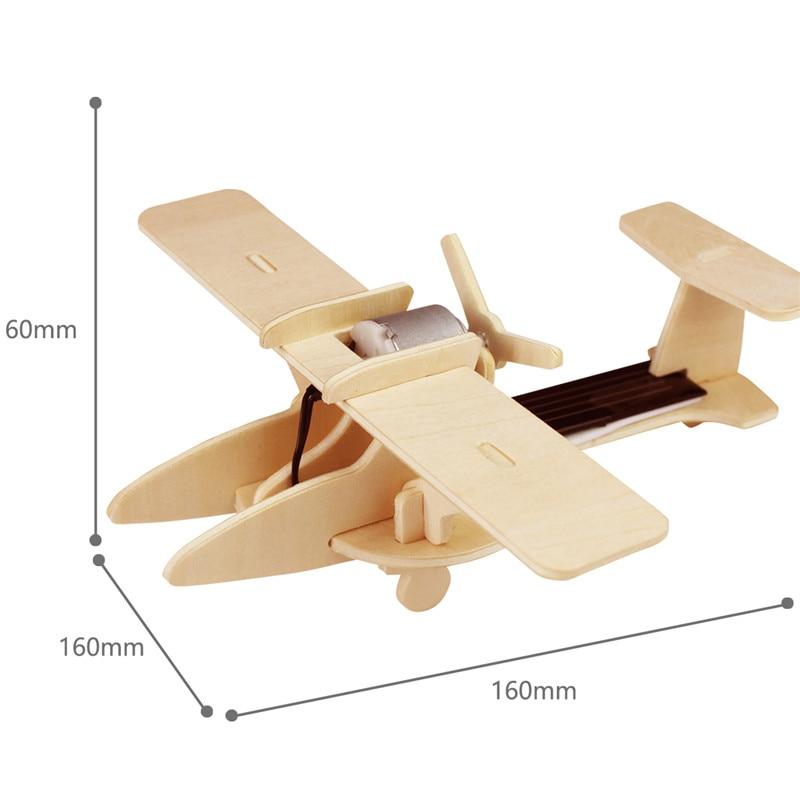 Robud 11 Kinds Solar Energy Powered Plane 3D Wooden Model Building Popular Creative Toys Hobbies Gift for Children,Teens P250 41