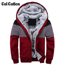 New Brand Hoodies Men Fashion Casual Warm Thicken Men's Sweatshirts Hooded Winter Jacket Man Patchwork Pullovers Streetwear 4XL(China)