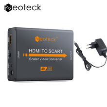 Mini HDMI To SCART Converter Adapter HDMI 4Kx2K 30Hz Input NTSC And PAL TV Format With Power Supply Scaler HDMI Video Adapter(China)
