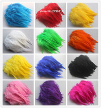 50 PCS Natural Colourful Rooster Feathers Fly Tying Bulk Feathers Christmas Decorations For Home Wedding New Year Cosplay Sale(China)