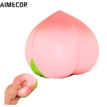 Squeeze toys Home Wider Aimecor Jumbo Soft Squishy Peach Charms Cream Scented Slow Rising Kids Toy Phone Strap Drop Shipping(China)