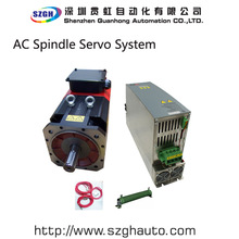 Powerful 3 PH 380V 30kw 191Nm AC spindle ATC servo motor and driver a total set for CNC lathe&milling(China)