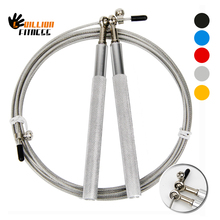 3M speed rope Mental bearing Speed Jump Rope Adjustable Steel Cable Wire Aluminum Handles Skipping Ropes Silvery Jumping Rope(China)