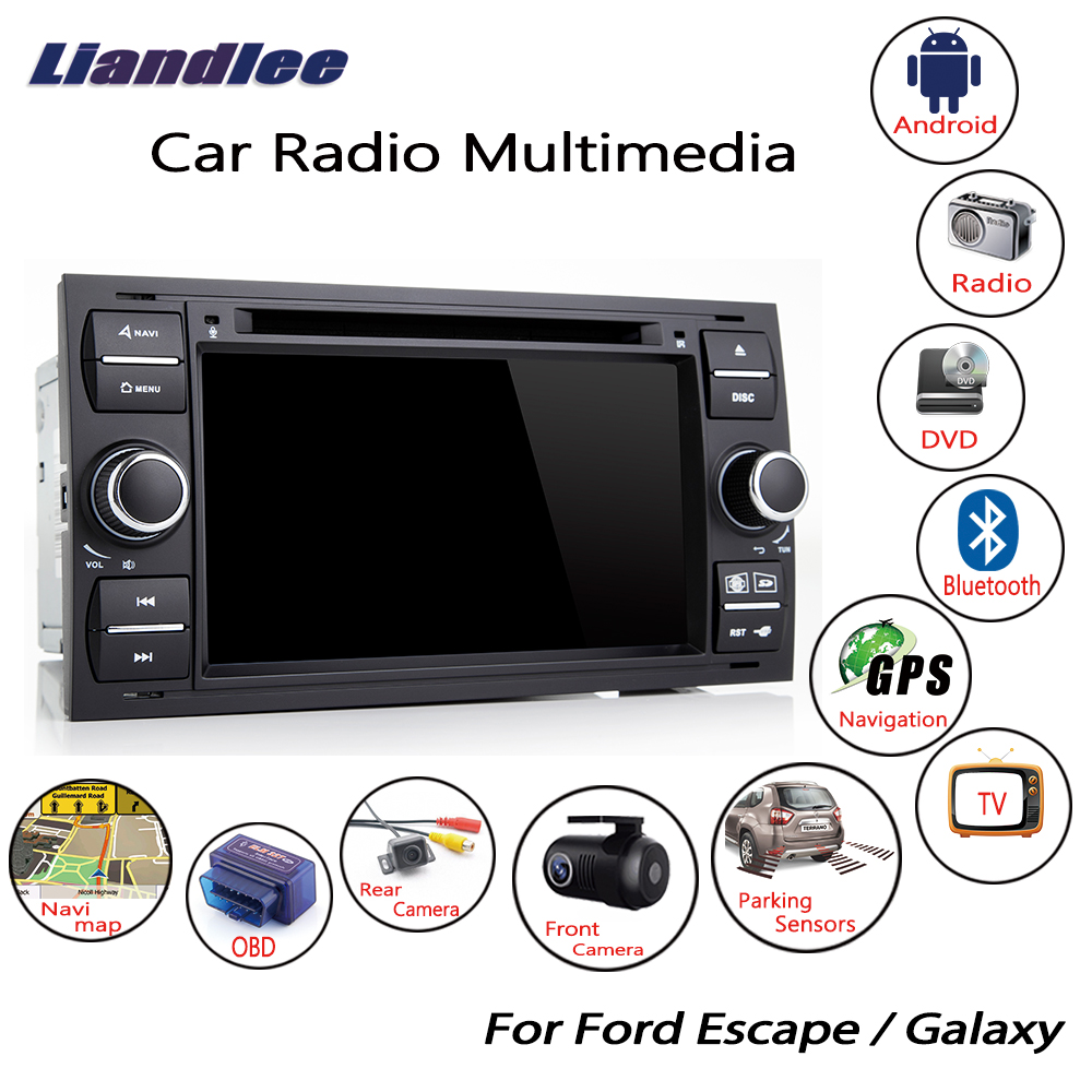 Liandlee For Ford Escape Galaxy 2002~2009 Android Car Radio CD DVD Player GPS Navi Navigation Maps Camera OBD TV Screen Multimedia1