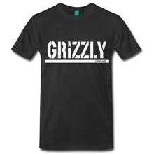 Hot Selling grizzly tops tees O-Neck Motion animal t-shirt Cotton men's short sleeve tee shirts(China)