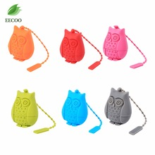 Unique Owl Tea Strainer, Silicone Tea Infuser Filter Teapot Teabags for Tea & Coffee Drinkware Empty Tea Bag Leaf Diffuser