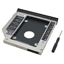 2nd HDD Caddy 9.5MM SATA III Ejector Double LED Light Customized for Dell Latitude E6320 E6420 E6520 E6330 E6430 E6530 DVD-ROM
