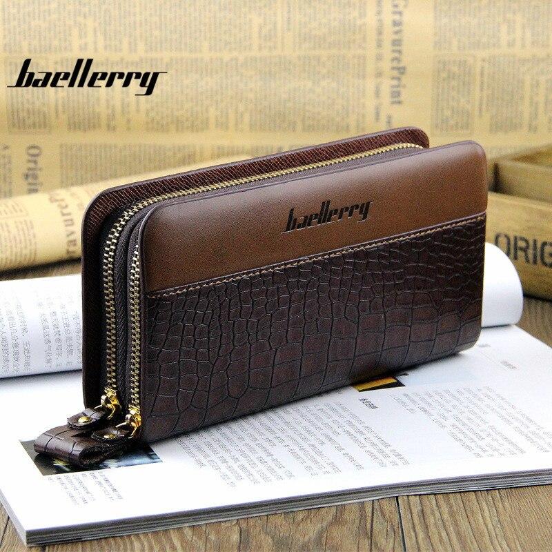2017 Baellerry Men Leisure Clutch Bag Fashion Card Package Cell Phone Pocket Men Luxury Brand Wallets Portomonee Billetera Walet<br><br>Aliexpress