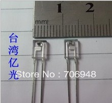Wholesale - free shippping 50pairs(100pcs) rectangular LED infrared emitter and IR receiver diode(China)