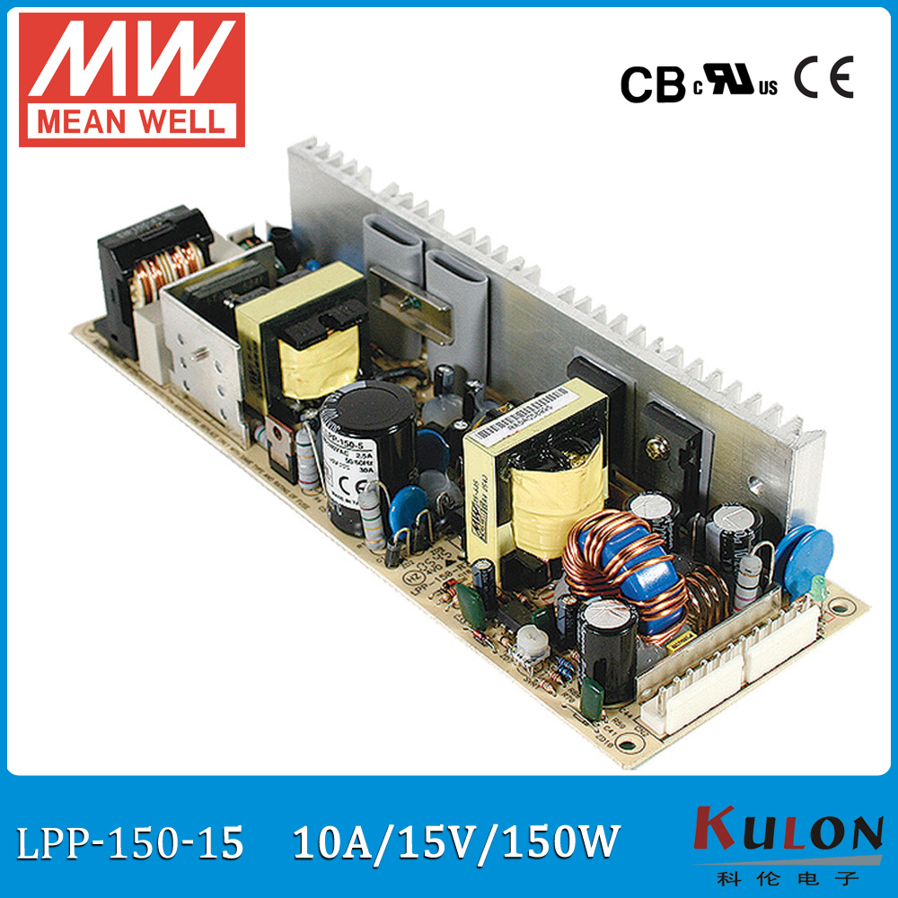 Original MEAN WELL LPP-150-15 single output 10A 150W 15V Meanwell Power Supply with active PFC open frame LPP-150<br>