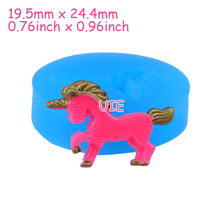 DYL404U 24.4mm Unicorn Flexible Silicone Mold - Animal Mold Sugarcraft, Cake Decoration, Fondant, Chocolate, Resin, Jewelry Mold
