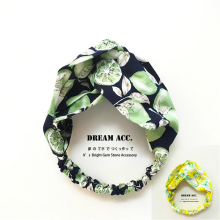 Original Fashion Fresh Green Yellow Lemon with Summer Contracted Temperament Hair Band Fresh Cloth Art Headband Hairpin