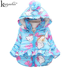 Jackets For Girls KEAIYOUHUO 2017 Kids Clothes Cartoon Girl Jacket Winter Warm Down Coats Children High Quality Hooded Outerwear