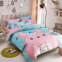 3/4pcs Bedding SetsTwin Queen Size100% Cotton Pillow Bed Line Quilt  Set Covers Duver Cover Sheet Cartoon Bed Sheets linens