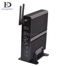 Big promtion Fanless HTPC Intel core i7 5550U Dual Core Dual LAN Fanless Mini Computer Desktop PC 2*HDMI Optical Nettop PC Nuc
