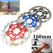 "Bicycle Disc Brake Pad MTB DH Brake Float Floating Disc Rotors 160mm 6 ""Red/Blue/Black MTB Hydraulic Disc brake Bicycle Parts"