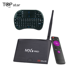 MX9 Pro Android 7.1 2GB 16GB Smart TV Box RK3328 Quad-Core 2.4G WiFi Bluetooth 4.0 Set-top box H.265 VP9 HDR 4K HD Media Player