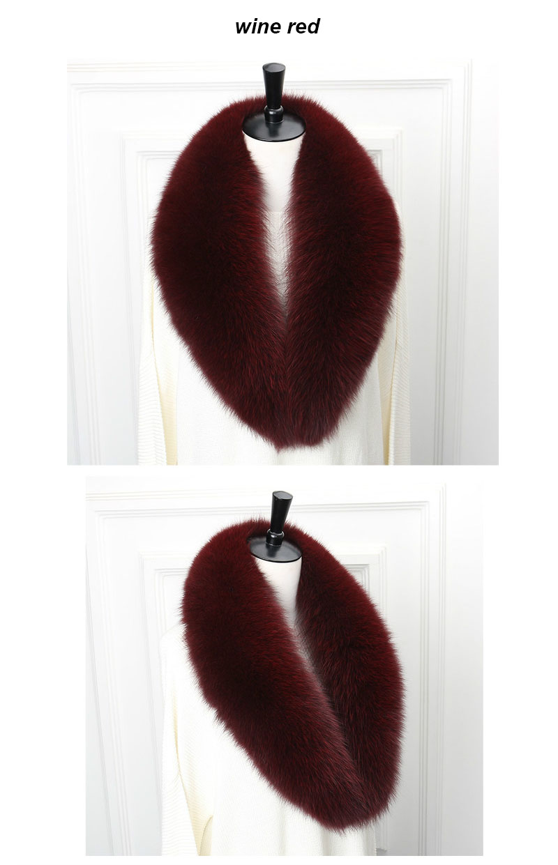 fox collar 110 wine red