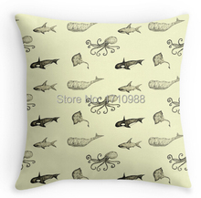 Free shipping Aquatic life pattern (two sides) Custom Throw Pillow Cases for12x12 14x14 16x16 18x18 20x20 24x24 inch