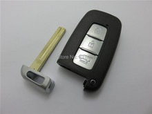 Smart Card case for Kia Remote Key Fob cover With Insert Small Key Blade 3 Buttons Flip smart key shell for Hyundai