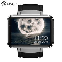 KINCO Newest Camera Smart Watch Phone 320*240 HD Resolution 2.2Inch Large Screen 3G WIFI GPS Wristband Support For IOS/Android