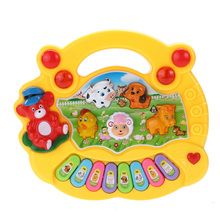 Baby Educational Piano Kids Toys Music Musical Developmental Animal Farm Piano Sound Learning Toy for Children Gift