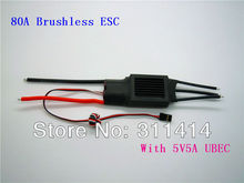 2pcs/lot 80A RC ESC Brushless Motor Regler ESC For Airplane UBEC80A ESC + Free Shipping Brand New Factory Price