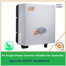 Single Phase 1500W Grid Tie Solar Inverter 230VAC transformerless DC to AC on Grid with LCD display IP65 for Australia market(China)