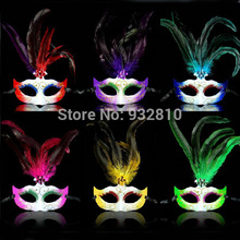 6 Colors Crazy Party Masks Bright Carnival Costumes Masks Mardi Gras Masks for Ladies 10PCS/LOT LP063