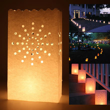 20pcs/lot New Arrival Sun Shine Holder Luminaria Paper Lantern Candle Bag For Party Home Outdoor Wedding Decoration