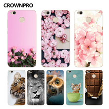 Buy CROWNPRO Cute Fundas FOR Xiaomi Redmi 4X Case Soft Silicone 4 X Back Cover Xiaomi Redmi 4X Painting TPU Protective Case for $1.14 in AliExpress store