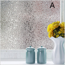 60cm wide 3D non-plastic static glass foil bathroom matte paste sunscreen window flower stickers water droplets variety