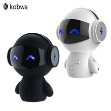 Bluetooth Wireless Cartoon Robot Portable Mini Bluetooth Speakers Creative Stereo Music Loudspeakers Power Bank Player Receiver
