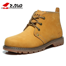 Z. Suo men's boots, brand new solid fashion boots man autumn and winter boots Martin tooling leather. Sapatos masculinos zs0173