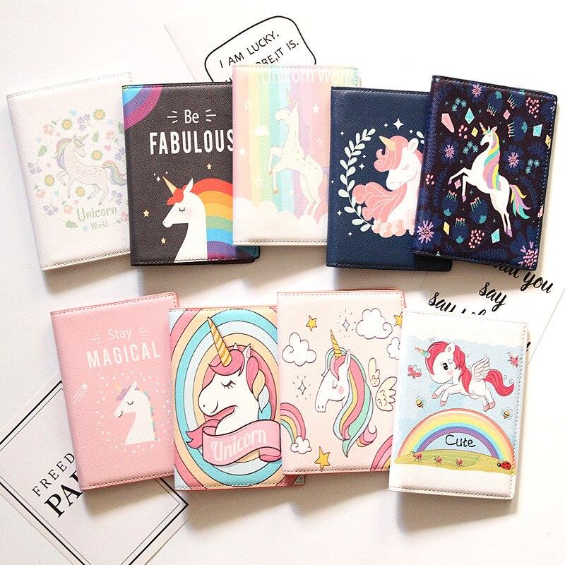 Cover de unicornio para pasaporte
